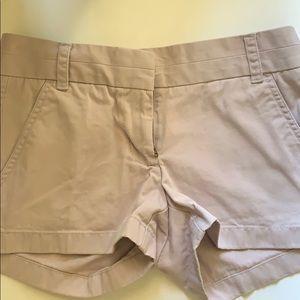 J. Crew chino shorts, lavender !!